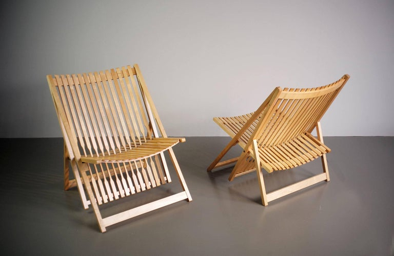 Late 20th Century Jean-Claude Duboys, Pair of A1 Armchairs, France, 1980 For Sale