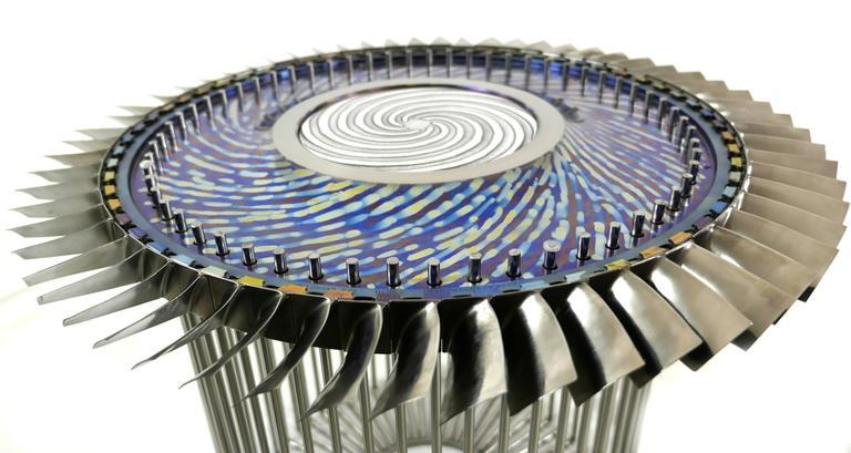 21th century patinated titanium and stainless steel coffee for Table titanium quadra 6