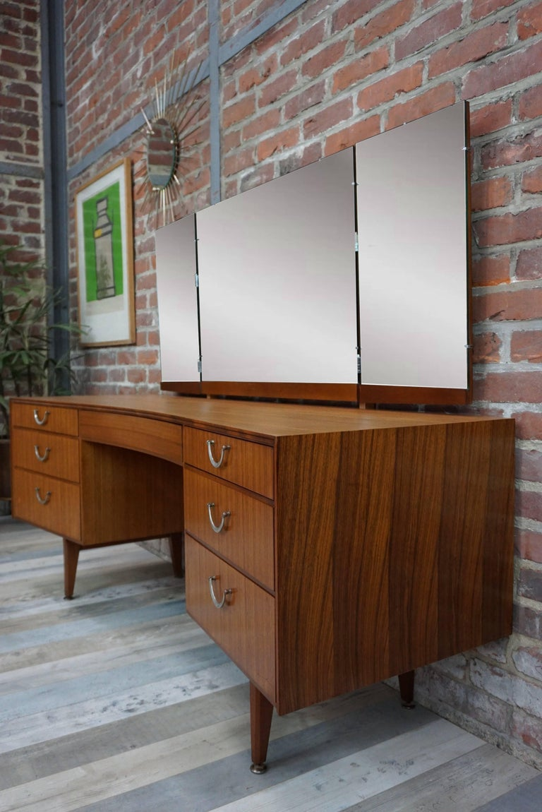 Wooden Teak and Curved Dressing Table at 1stdibs