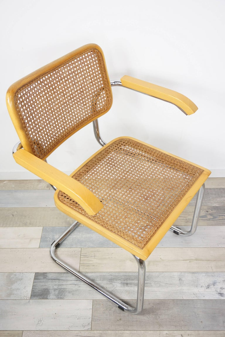 20th Century Set of Six Armchairs Cesca B64 Model Marcel Breuer Design For Sale