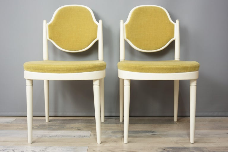 Mid-Century Modern Pair of Bentwood Thonet Chairs Design Hanno Von Gustedt For Sale