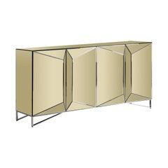 Goldenes verspiegeltes Chrom Sideboard