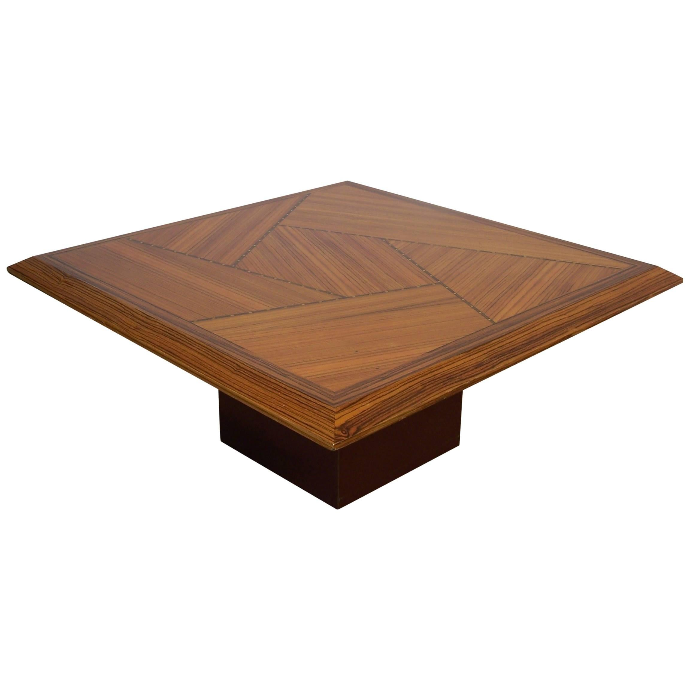 Wooden Marquetry Italian Design Coffee Table