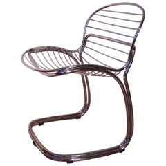"Italian Design Chrome ""Sabrina"" Chair by Gastone Rinaldi for RIMA"
