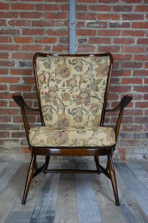 "20th Century Genuine ""Double Bend Bow"" Ercol Armchair with Original Cushions For Sale"