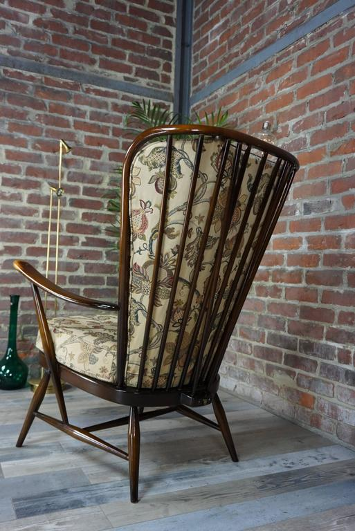 "Genuine ""Double Bend Bow"" Ercol Armchair with Original Cushions For Sale 1"