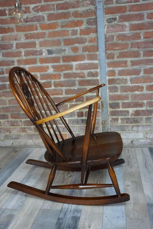 20th Century Rocking Chair 1950s Ercol with Cushions