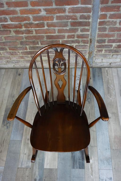 Rocking Chair 1950s Ercol with Cushions 2
