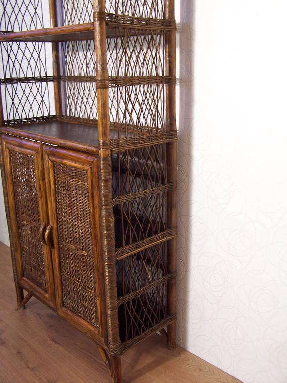 Rattan And Wicker Bookcase At 1stdibs