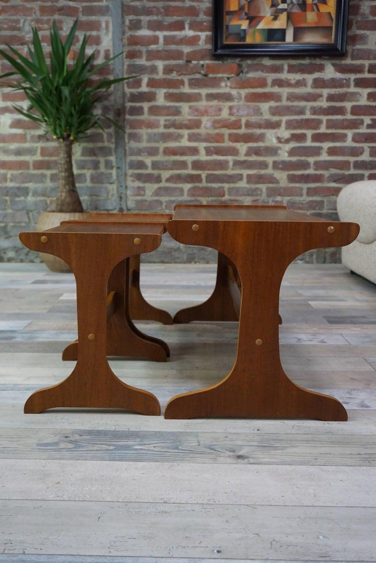 Set Of Nesting Teak Tables Design The 1950 1960 For