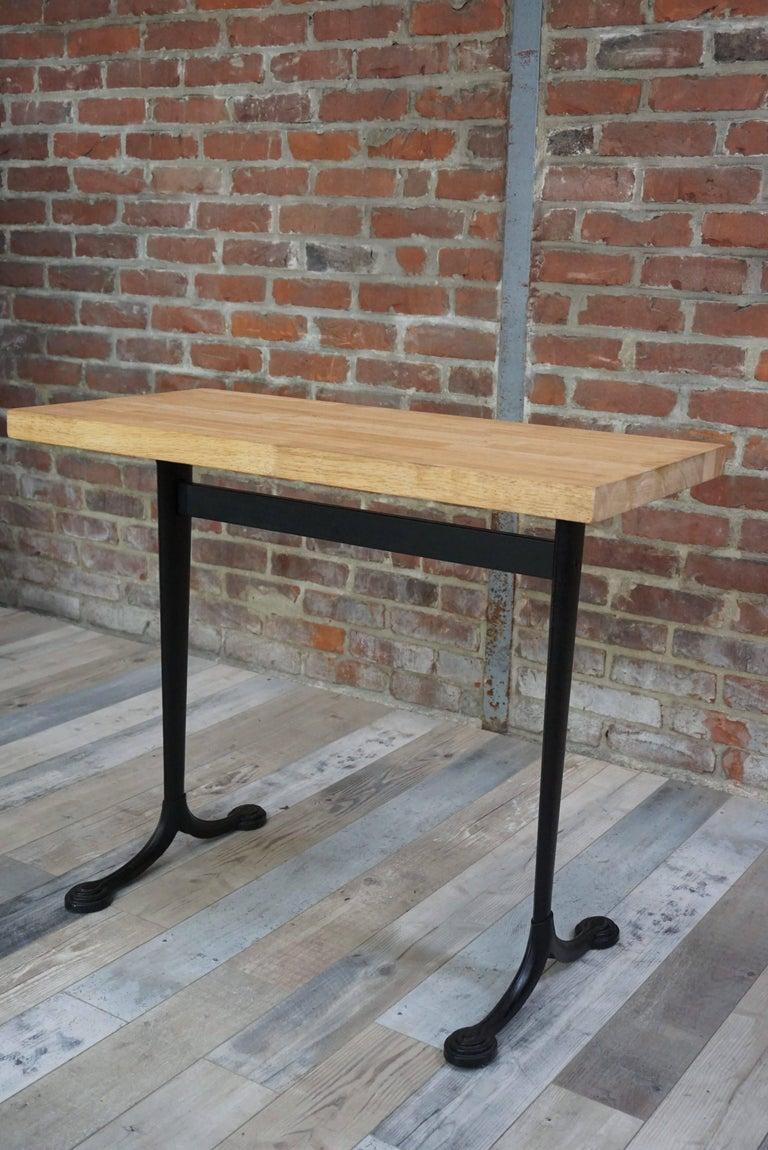 table bistrot iron cast foot for sale at 1stdibs. Black Bedroom Furniture Sets. Home Design Ideas