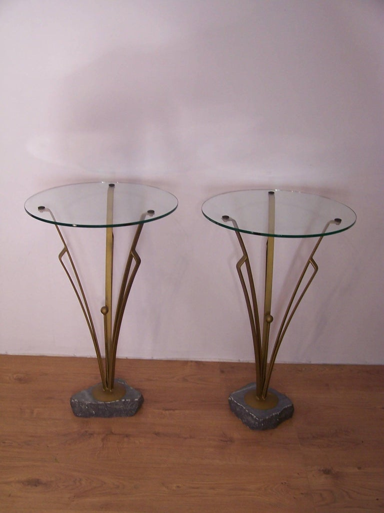French Pair of Art Deco Design Tables For Sale