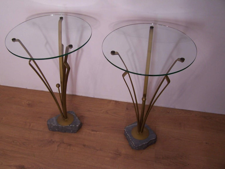 Pair of Art Deco Design Tables In Excellent Condition For Sale In Halluin, FR