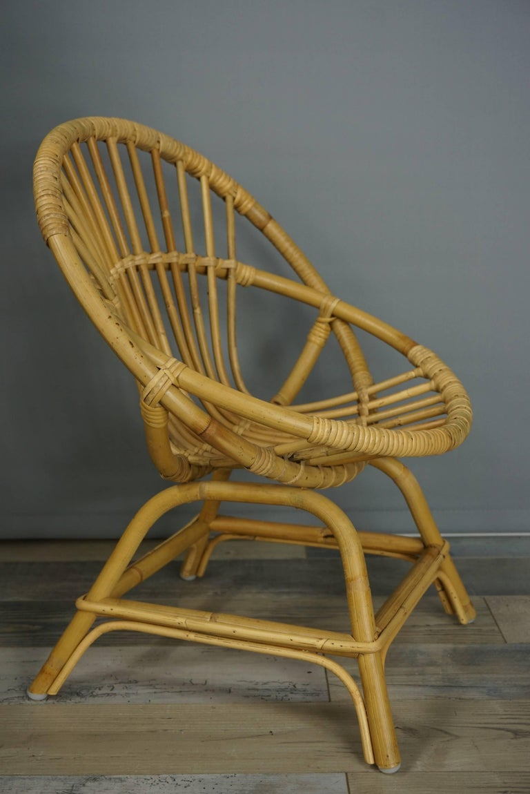 Armchair in Natural Rattan Cane excellent quality  Seat height 43