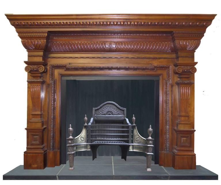 19th Century Regency Early Victorian Walnut And Mahogany Fireplace Surround For Sale At 1stdibs