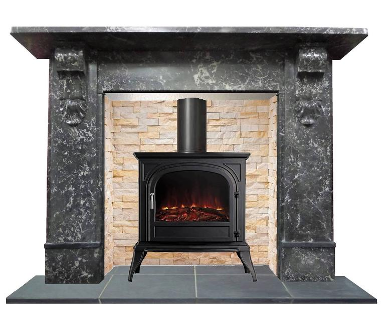 Antique Victorian Black St Anne 39 S Marble Mantel Fireplace Surround At 1stdibs