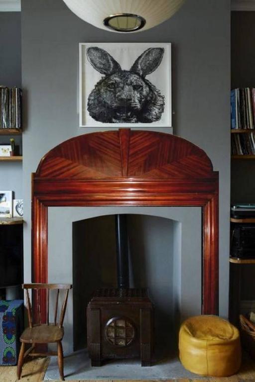 Art Deco, 1930s Mahogany Wood Mantel Fireplace Surround ...