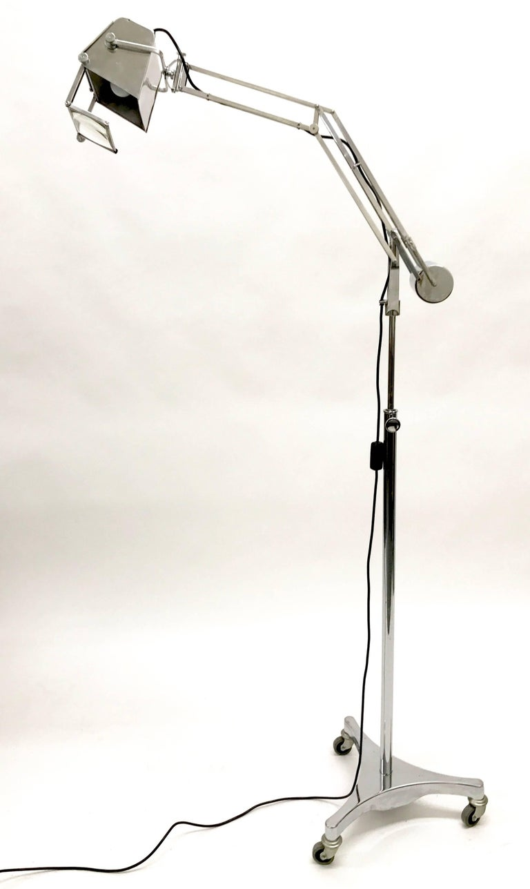 Hadrill and Horstmann Counter Balance Trolley Floor Lamp For Sale 3
