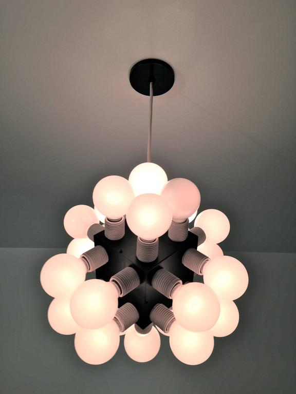 Robert Sonneman Twenty-four-bulb Cube Chandelier For Sale 1