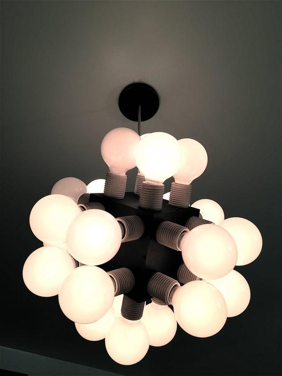Robert Sonneman Twenty-four-bulb Cube Chandelier For Sale 2