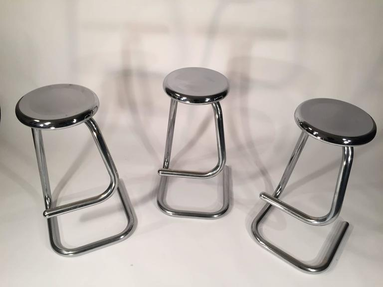 Tubular Chrome Steel Bar Stools K700 Kinetics At 1stdibs