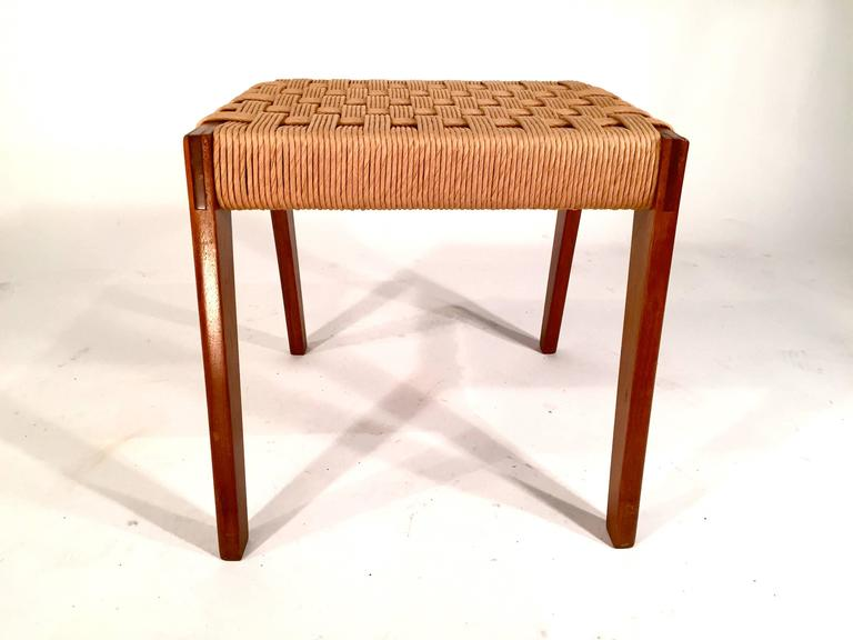 Danish Modern Paper Cord Stool Ottoman For Sale At 1stdibs