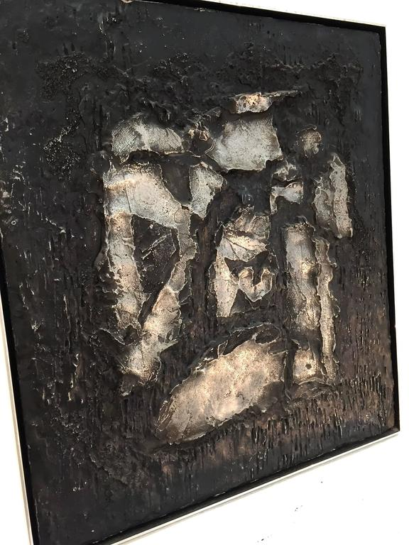 Mid-20th Century Boris Aronson Metal on Wood
