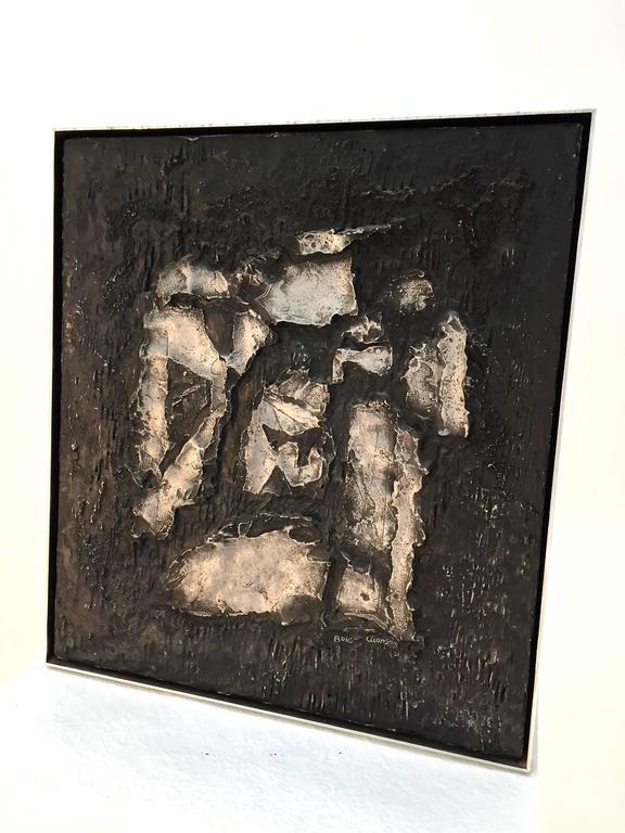 Boris Aronson Metal on Wood