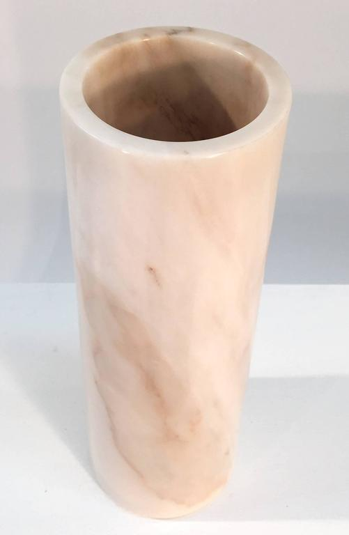 Late 20th Century Tall Italian Marble Vase, 1970s For Sale
