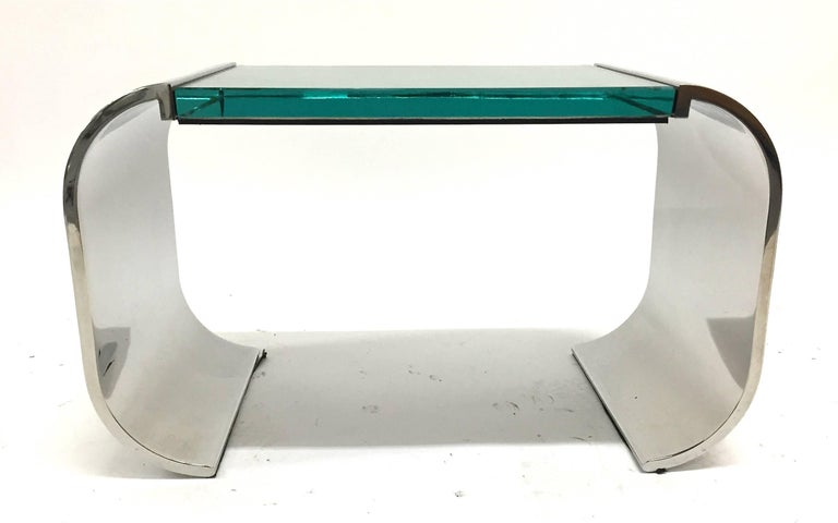 Modern Stanley Jay Friedman for Brueton Stainless Steel and Glass Macao Low Table For Sale