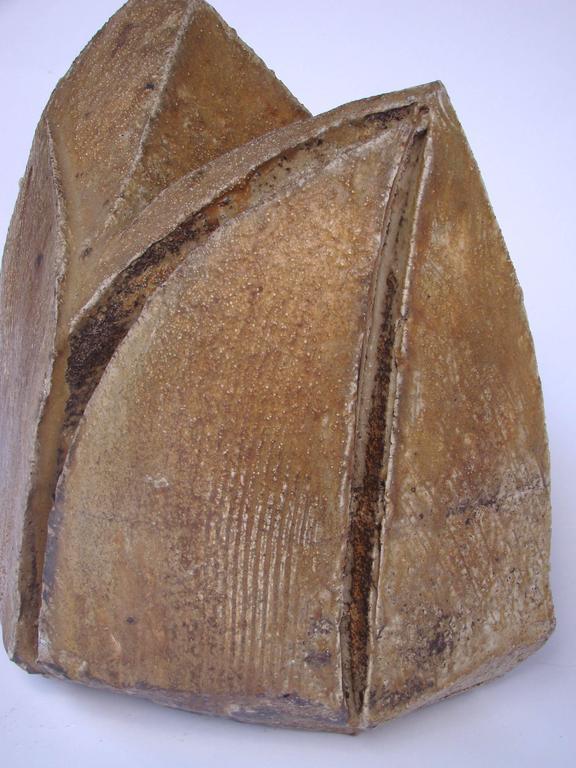 Brutalist stoneware from La Borne ceramic center by Eric Astoul, circa 1980-1990.  Provenance: French Collection.