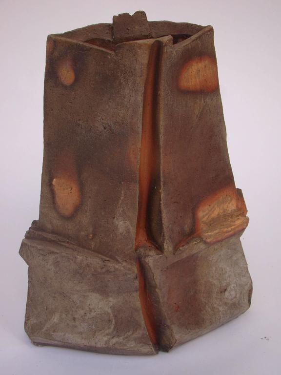 French Brutalist Ceramic Sculpture by Eric Astoul, circa 1980-1990 For Sale