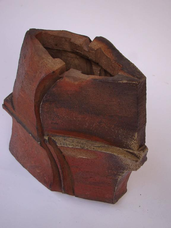 French Brutalist Ceramic Sculpture by Eric Astoul, 1980-1990 For Sale