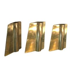 Handcrafted Solid Brass Candlestick Holders by Gallotti & Radice