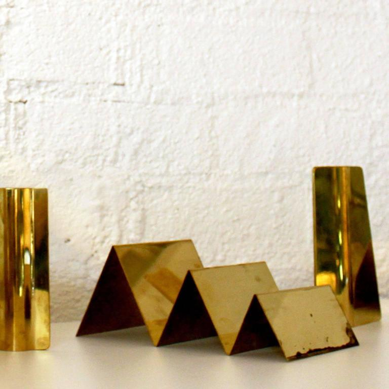Handcrafted Solid Brass Letter Holder Made in Italy by Gallotti & Radice 4