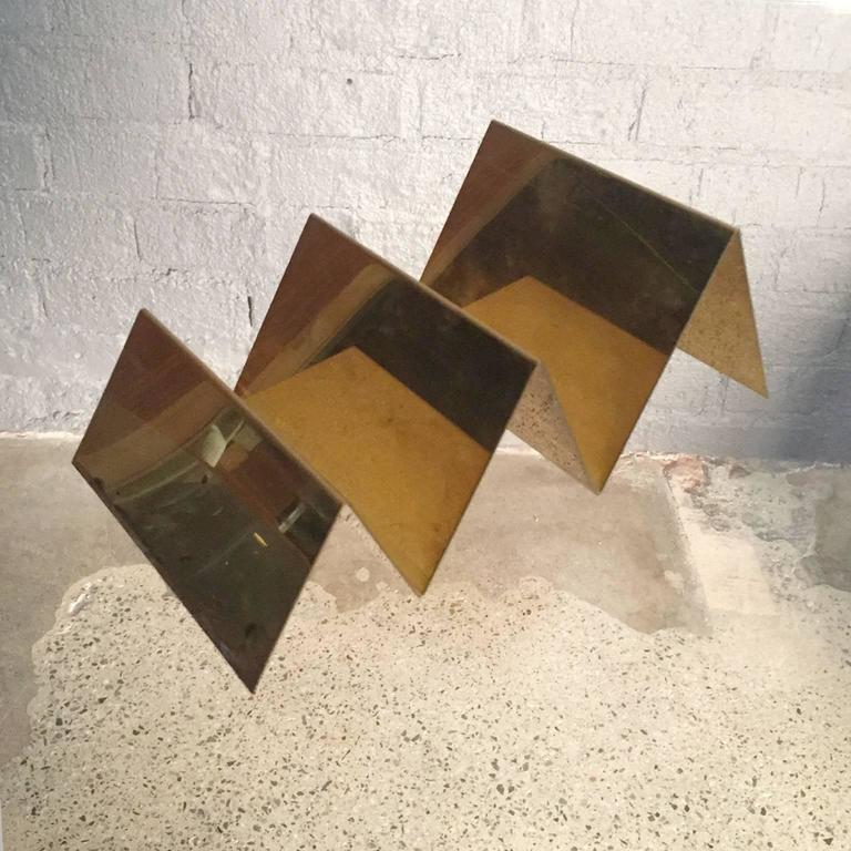 Handcrafted Solid Brass Letter Holder Made in Italy by Gallotti & Radice 2