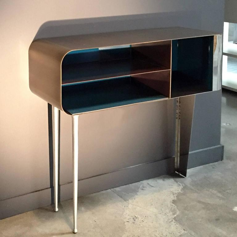 Italian Solometallo Console By Nikita Bettoni For Decastelli For Sale
