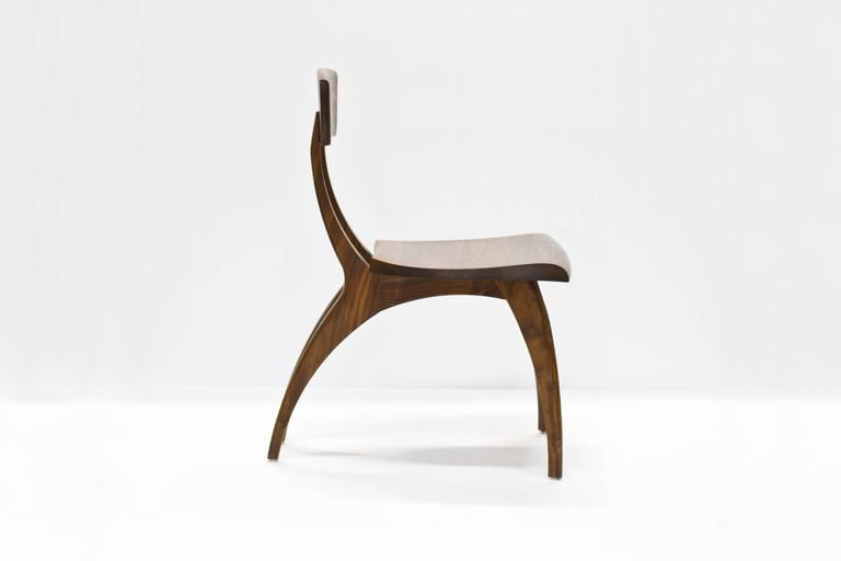 American Modern Flicka Chair in Solid Walnut by Brooke M. Davis for Wooda For Sale