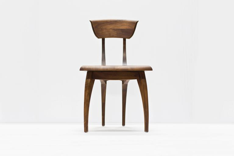 Woodwork Flicka Chair in Solid Walnut by Brooke M. Davis for Wooda For Sale