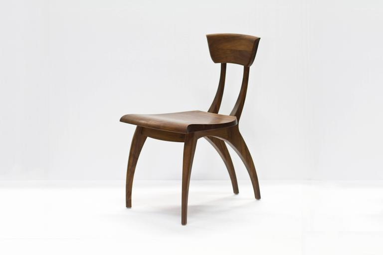 Flicka Chair in Solid Walnut by Brooke M. Davis for Wooda In Excellent Condition For Sale In Omro, WI