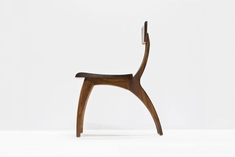 Contemporary Flicka Chair in Solid Walnut by Brooke M. Davis for Wooda For Sale