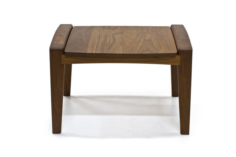 American Modern Pilot Lounge Chair Ottoman in Solid Walnut by Scott Mason for Wooda For Sale