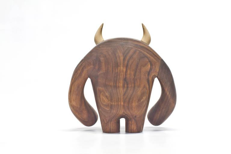 Hand-Crafted Hermanos Calavera, Jefe in Walnut by Miguel and Ilse Silva for Wooda For Sale