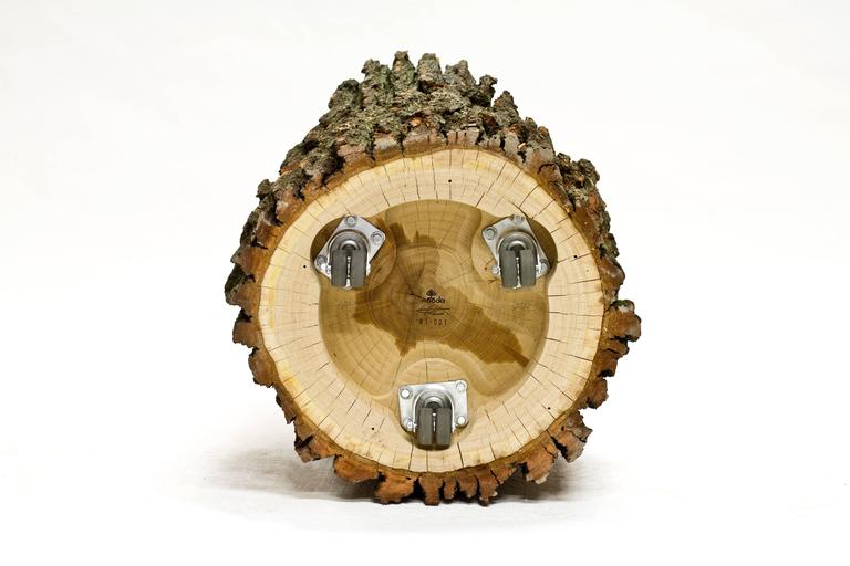 Log Type E in Solid Red Oak, Bark on by Tucker Viemeister for Wooda For Sale 1