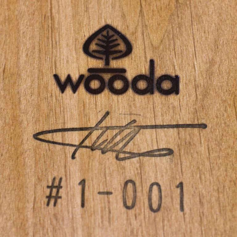 Log Type E in Solid Red Oak, Bark on by Tucker Viemeister for Wooda For Sale 2