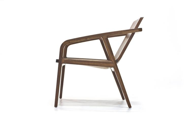 Pilot Lounge Chair in Solid Walnut by Scott Mason for Wooda 3