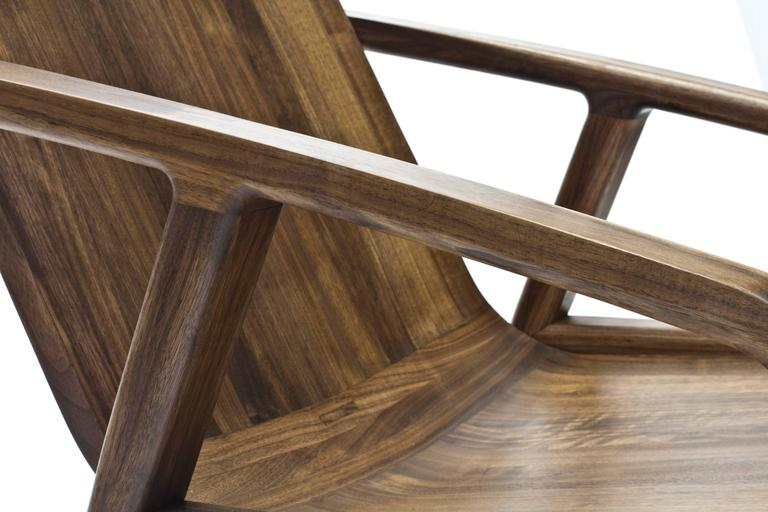 Pilot Lounge Chair in Solid Walnut by Scott Mason for Wooda 6