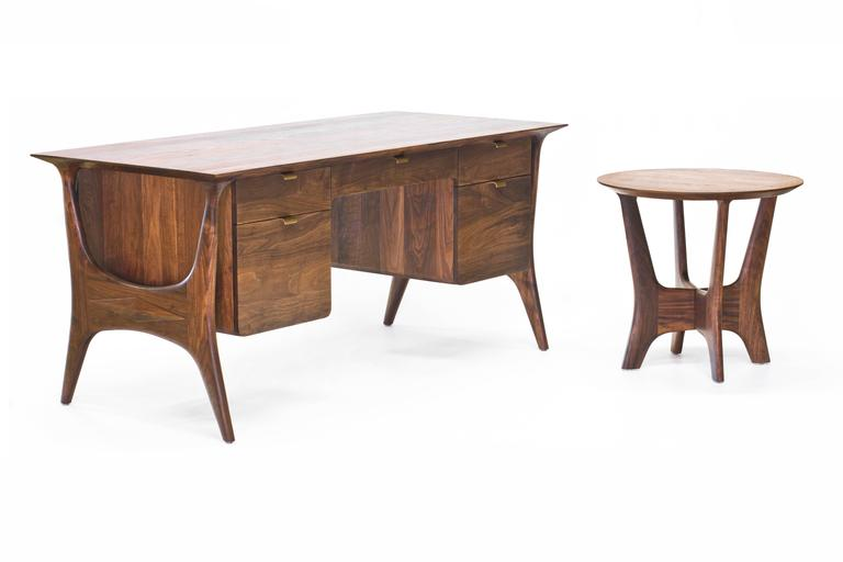 Sträcka Desk in Solid Walnut by Mack Geggie for Wooda 6