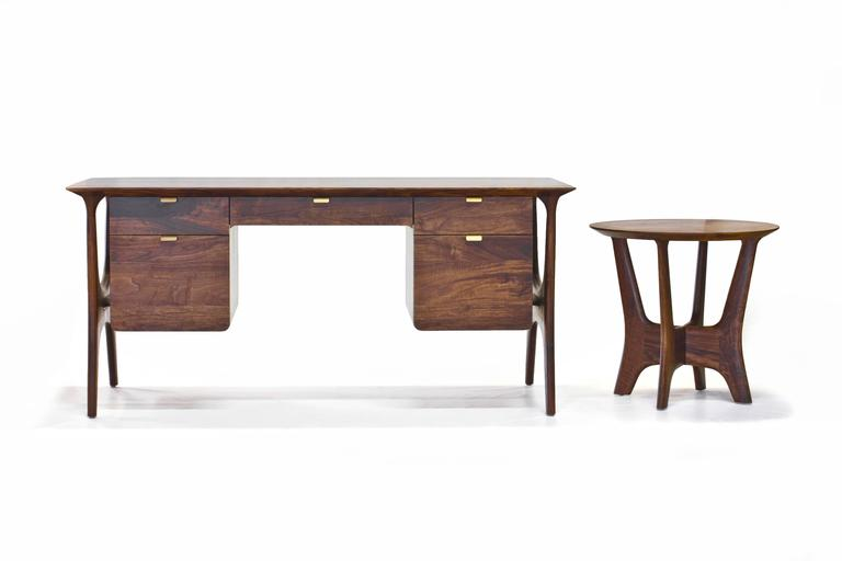 American Sträcka End Table in Oiled Walnut by Mack Geggie for Wooda For Sale