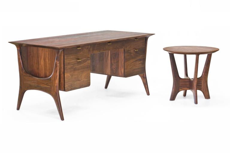 Woodwork Sträcka End Table in Oiled Walnut by Mack Geggie for Wooda For Sale